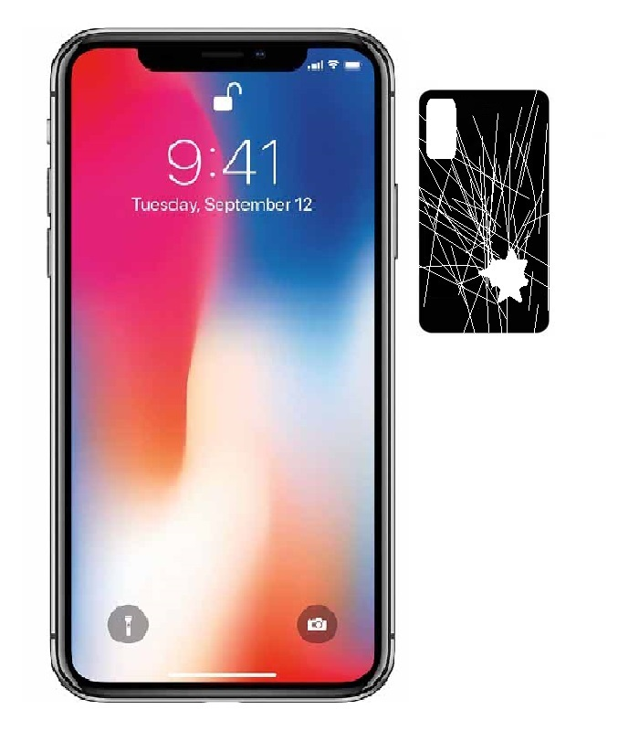 iPhone X (10) back glass panel repair in Mumbai